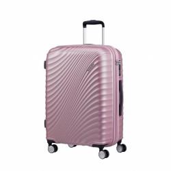 Valise American Tourister Jetglam 67 cm Mettalic Pink Maroquinerie Lika